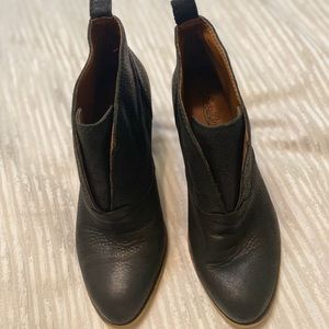 Lucky Brand Black Leather Booties